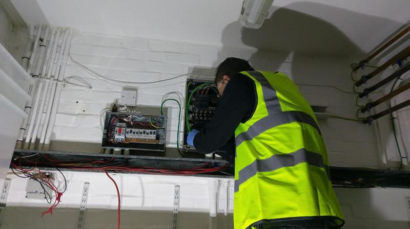 electrician reqiring a fuse board